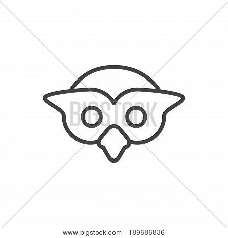 Isolted Night Fowl Outline Symbol On Clean Background. Vector Owl Element In Trendy Style.
