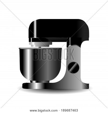 ealistic Food processor vector illustration isolated on white