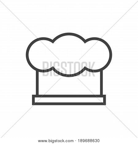 Isolted Chef Cap Outline Symbol On Clean Background. Vector Hat  Element In Trendy Style.