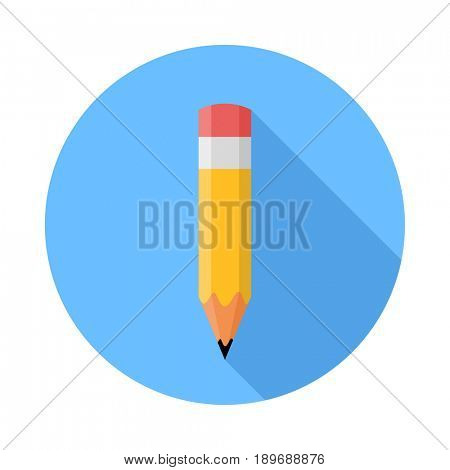 Pencil. Flat Design icon