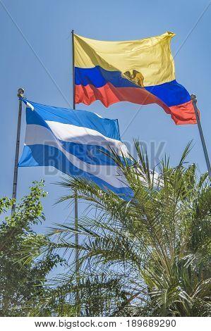 Ecuador And Guayas Flags