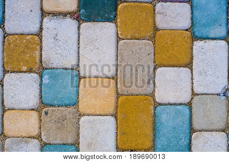 Texture Of Ground With Colorful Stones