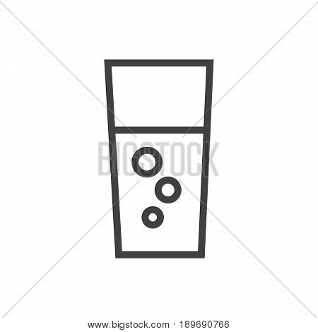 Isolted Soda Outline Symbol On Clean Background. Vector Fizzy Water Element In Trendy Style.