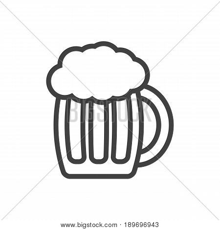 Isolted Pub Outline Symbol On Clean Background. Vector Beer Element In Trendy Style.
