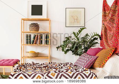 Bed In Oriental Bedroom
