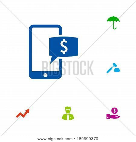 Set Of 6 Budget Icons Set.Collection Of Grown, Worker, Save Money And Other Elements.