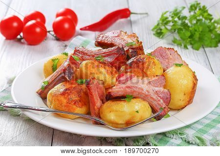 Roasted New Potato With Pork Ribs