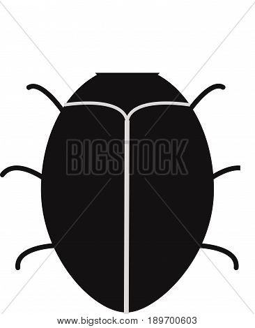 bug software. bug icon on white background. software bug or program bug icon for app and website.