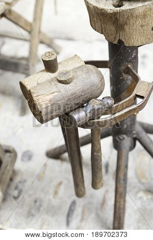 Old Wooden Hammers
