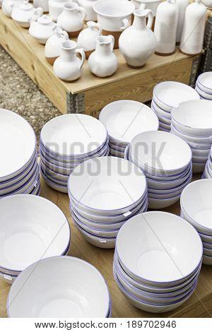 White Dishes Craft