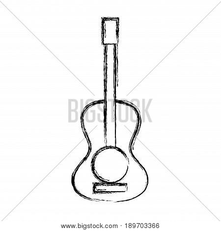 figure guitar acoustic intrument of music player vector illustration