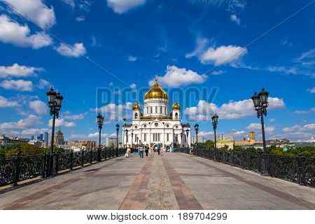 Russia, Moscow, Mary 23, 2017. Cathedral of Christ the Savior