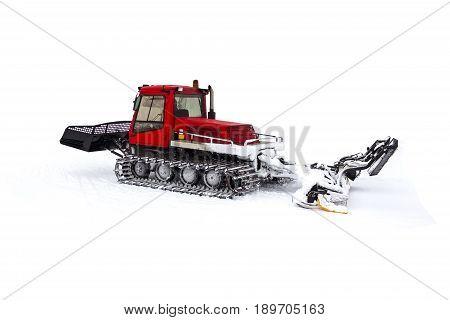 Machine for making a ski slope. Ratrak