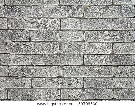 New gray brick wall texture grunge background.