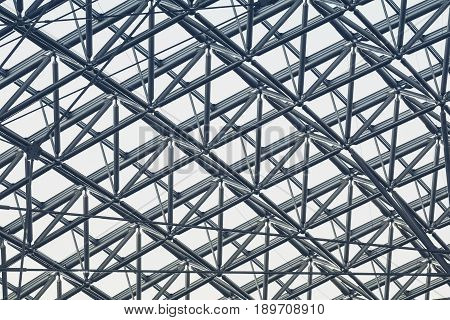 Metal steel Structure Architecture detail Modern design Roof