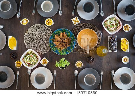 Table ready for iftar