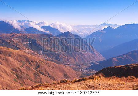 The beautiful mountain scenery of Ecuador. Andes.