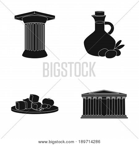 Greece, country, tradition, landmark .Greece set collection icons in black style vector symbol stock illustration .