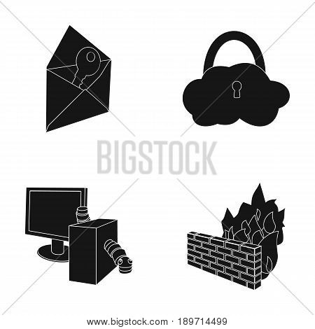 System, internet, connection, code .Hackers and hacking set collection icons in black style vector symbol stock illustration .