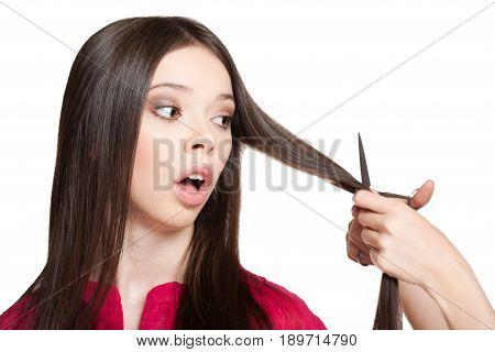 Long Haired Brunette.