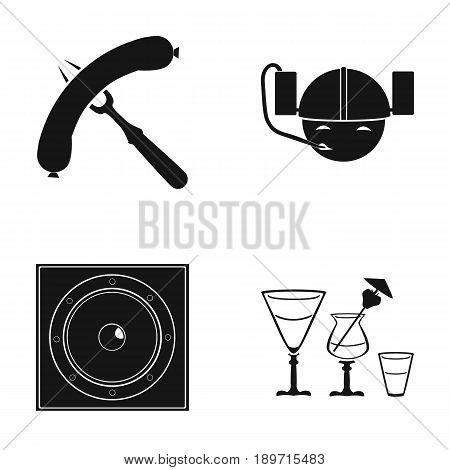 Bar, pub, restaurant, cafe .Pub set collection icons in black style vector symbol stock illustration .