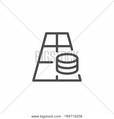 Betting line icon isolated on white. Vector illustration