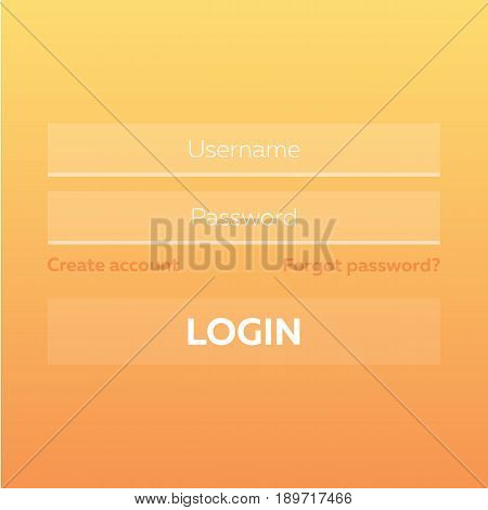 Material Design Ui, Ux And Gui Layout With Login Screens.