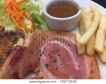 Chicken Steak And Ham Steak