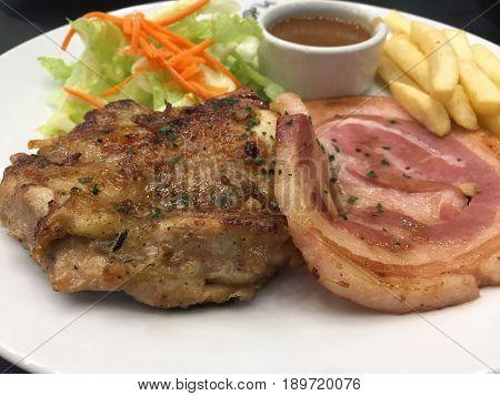 Chicken Steak And Ham Steak