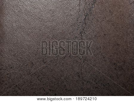 background made of brown leather material. macro .