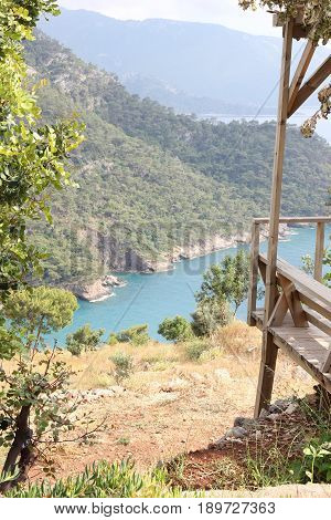 A view of a beautiful scenic bay at Kabak in Turkey, 2017