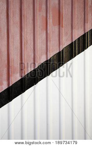 Metal Door With Colored Lines