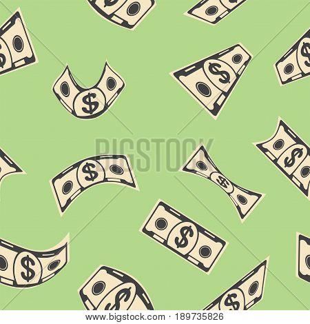 Green Money Seamless Pattern