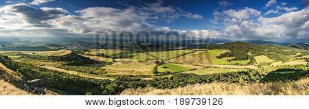 Panoramic view of the summer landscape Litomerice/Czech Republic/