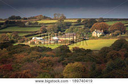 Hamlet near the village of Throwleigh. Dartmoor. Devon. England