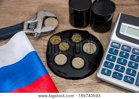 Crude Oil Price. Inflation Ruble. Russian Sanctions. Euro And Dollar Vs Ruble.