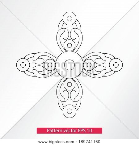 Ornament and decor, design elements. Decoration of the page. Vector illustration