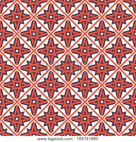 Seamless texture with arabic geometric ornament. Vector mosaic pattern