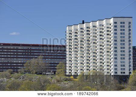 Apartment buildings in Stockholm - Sweden .