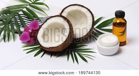cosmetics with coconut
