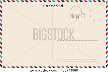 Vector postcard with the beige paper texture