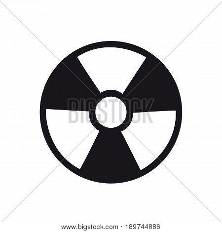 Ionizing radiation icon black on white background