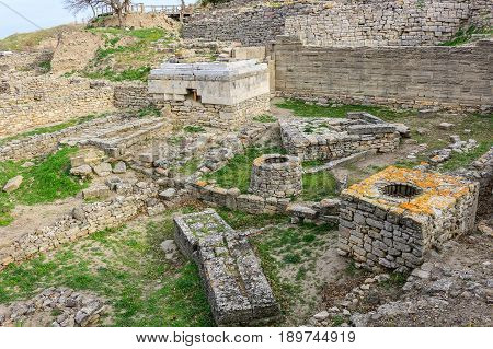 Holy Place Of The Ruins In Troy Turkey