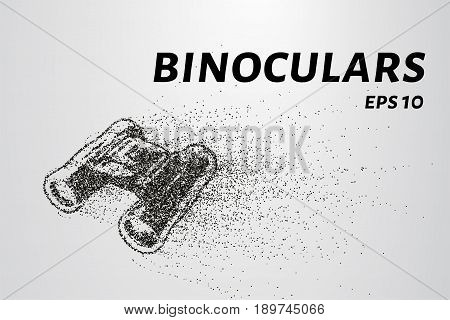 The Binoculars Of The Particles. Binoculars Consists Of Small Circles And Dots. Vector Illustration.
