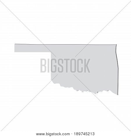 Map of the U.S. state of Oklahoma on a white background