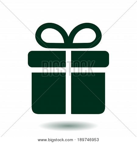 Gift box  icon. Present - a personal offer. Gift wrapping.