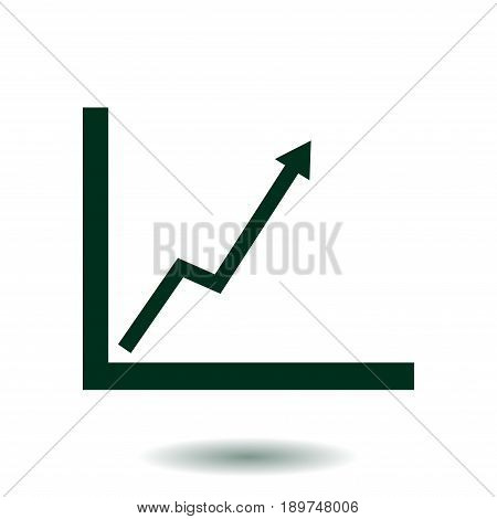 Business graph. Infographic. Chart icon. Growing graph simbol. Flat design style.