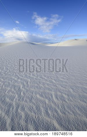 Sand Dunes and Blue Sky - White Sands National Monument