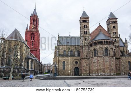 The Basilica of Saint Servatius is a Roman Catholic church dedicated to Saint Servatius in the city of Maastricht the Netherlands