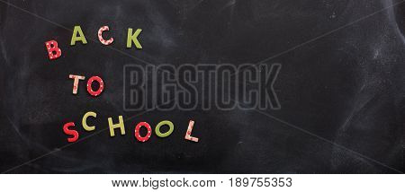 Back To School Text On A Chalk Board
